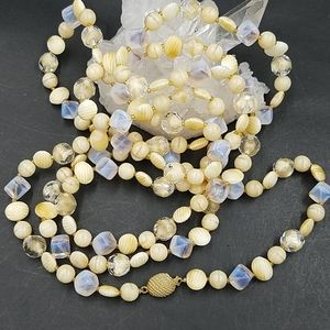 "Vintage Marvella 60"" Glass Bead Necklace"
